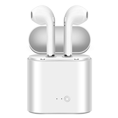 Bluetooth Headphones.Wireless Headphones Stereo in-Ear Earpieces with 2 Wireless Built-in Mic Earphone and Charging Case for Most (ds)