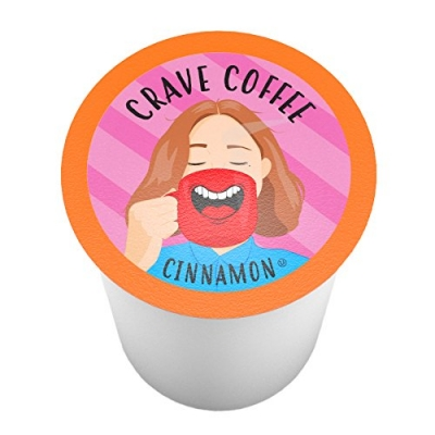Crave Coffee Single-Cup Coffee for Keuirg K-Cup Brewers, Cinnamon, 100 Count