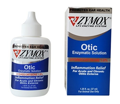 Pet King Brands Zymox Otic Pet Ear Treatment with Hydrocortisone, 1.25 oz