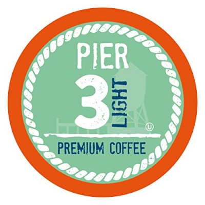 Pier 3 Single-Cup Coffee for Keurig K-Cup Brewers, Light Roast, 100 Count